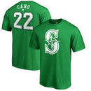Robinson Cano Seattle Mariners Fanatics Branded St. Patrick's Day Stack Name & Number T-Shirt - Kelly Green