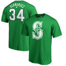 Felix Hernandez Seattle Mariners Fanatics Branded St. Patrick's Day Stack Name & Number T-Shirt - Kelly Green