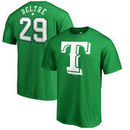 Adrian Beltre Texas Rangers Fanatics Branded St. Patrick's Day Stack Name & Number T-Shirt - Kelly Green
