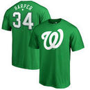 Bryce Harper Washington Nationals Fanatics Branded St. Patrick's Day Stack Name & Number T-Shirt - Kelly Green