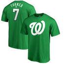 Trea Turner Washington Nationals Fanatics Branded St. Patrick's Day Stack Name & Number T-Shirt - Kelly Green