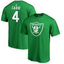 Derek Carr Oakland Raiders NFL Pro Line by Fanatics Branded St. Patrick's Day Icon Name & Number T-Shirt - Kelly Green