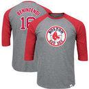 Andrew Benintendi Boston Red Sox Majestic Big & Tall Player Raglan 3/4-Sleeve T-Shirt – Heathered Gray/Red