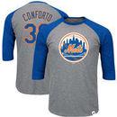 Michael Conforto New York Mets Majestic Big & Tall Player Raglan 3/4-Sleeve T-Shirt – Heathered Gray/Royal