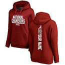 Alabama Crimson Tide Fanatics Branded Women's College Football Playoff 2017 National Champions Personalized Backer Pullover Hood