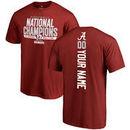 Alabama Crimson Tide Fanatics Branded College Football Playoff 2017 National Champions Personalized Backer T-Shirt – Crimson