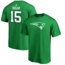 Chris Hogan New England Patriots NFL Pro Line by Fanatics Branded St. Patrick's Day Icon Name & Number T-Shirt - Kelly Green