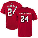 Devonta Freeman Atlanta Falcons Youth Mainliner Name & Number T-Shirt – Red