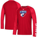 FC Dallas adidas Leave A Mark Performance Long Sleeve climalite T-Shirt – Red/Heathered Red