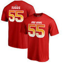 Terrell Suggs AFC NFL Pro Line by Fanatics Branded 2018 Pro Bowl Stack Name & Number T-Shirt – Red
