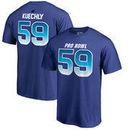 Luke Kuechly NFC NFL Pro Line by Fanatics Branded 2018 Pro Bowl Stack Name & Number T-Shirt – Royal