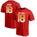A.J. Green AFC NFL Pro Line by Fanatics Branded 2018 Pro Bowl Stack Name & Number T-Shirt – Red