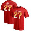Kareem Hunt AFC NFL Pro Line by Fanatics Branded 2018 Pro Bowl Stack Name & Number T-Shirt – Red