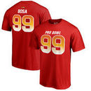Joey Bosa AFC NFL Pro Line by Fanatics Branded 2018 Pro Bowl Stack Name & Number T-Shirt – Red