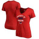USA Shooting Fanatics Branded Women's Property Of V-Neck T-Shirt - Red