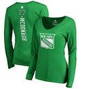Ryan McDonagh New York Rangers Fanatics Branded Women's St. Patrick's Day Backer Name & Number Slim Fit Long Sleeve T-Shirt – Ke