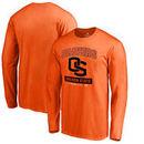 Oregon State Beavers Fanatics Branded Campus Icon Big and Tall Long Sleeve T-Shirt - Orange