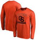 Oregon State Beavers Fanatics Branded Campus Icon Long Sleeve T-Shirt - Orange