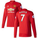 Alexis Sanchez Manchester United adidas 2017/18 Home Long Sleeve Replica Jersey – Red