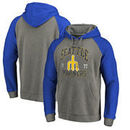 Seattle Mariners Fanatics Branded Cooperstown Collection Old Favorite Tri-Blend Raglan Pullover Hoodie - Ash