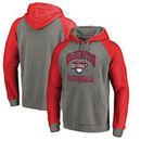Washington Nationals Fanatics Branded Cooperstown Collection Old Favorite Tri-Blend Raglan Pullover Hoodie - Ash