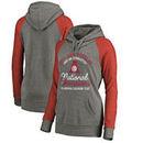 Alabama Crimson Tide Fanatics Branded Women's Gymnastics Anniversary Tri-Blend Pullover Hoodie - Heathered Gray/Crimson