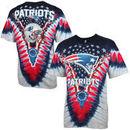 New England Patriots Navy Blue-Silver Tie-Dye Premium T-shirt