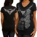 Chase Authentics Paul Menard Ladies Foil Premium T-Shirt - Black