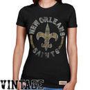 Mitchell & Ness New Orleans Saints Women's Vintage Graphic Premium T-Shirt - Black