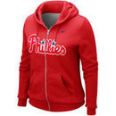 Philadelphia Phillies Nike Women's Classic 1.2 Full Zip Hoodie - Red