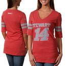 Chase Authentics Tony Stewart Women's Varsity V-Neck T-Shirt - Red