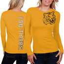 My U LSU Tigers Women's Afterthought Long Sleeve Slim Fit T-Shirt - Gold