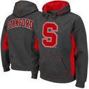 Stanford Cardinal Turf Fleece Pullover Hoodie - Charcoal/Cardinal