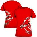 Chase Authentics Juan Pablo Montoya Women's Front Row Wrap Around T-Shirt - Red