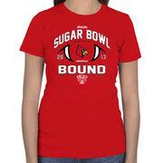 Louisville Cardinals Women's 2013 Sugar Bowl Bound T-Shirt - Red