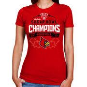 Louisville Cardinals Women's 2013 Sugar Bowl Champions Banners Edge T-Shirt - Red
