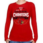 Louisville Cardinals Women's 2013 Sugar Bowl Champions Banners Edge Long Sleeve T-Shirt - Red