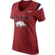 Nike Arkansas Razorbacks Women's Fan Top V-Neck T-Shirt - Cardinal