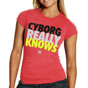 Punishment Athletics Cyborg Juniors Slim Fit T-Shirt - Pink