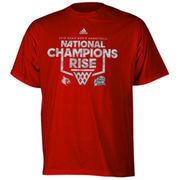 adidas Louisville Cardinals 2013 NCAA Men's Basketball National Champions Rise Up Camo T-Shirt - Red