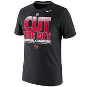 Nike Louisville Cardinals 2013 NCAA Men's Basketball National Champions Locker Room Cut the Net T-Shirt - Black