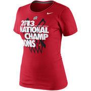 Nike Louisville Cardinals 2013 NCAA Men's Basketball National Champions Women's Celebration T-Shirt - Red