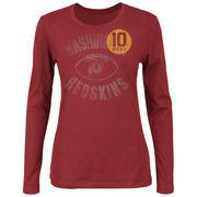 Robert Griffin III Washington Redskins Women's Endzone Classic V Long Sleeve T-Shirt - Burgundy