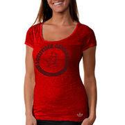 adidas Louisville Cardinals Women's Homesick Burnout T-Shirt - Red