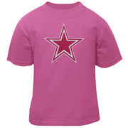 Dallas Cowboys Infants Girls Logo Premier T-Shirt - Pink