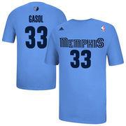 Marc Gasol Memphis Grizzlies adidas Net Number T-Shirt - Light Blue