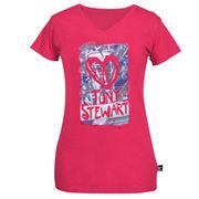 Chase Authentics Tony Stewart Youth Girls I Heart Racing T-Shirt - Pink