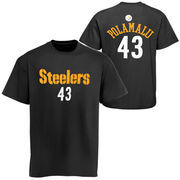 Troy Polamalu Pittsburgh Steelers Youth Primary Gear Player Name & Number T-Shirt - Black