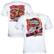 Chase Authentics Brian Vickers 2013 Quaker State 400 Louisville Cardinals National Basketball Champions T-Shirt - White