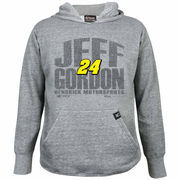 Chase Authentics Jeff Gordon Youth Primary Pullover Hoodie - Ash
